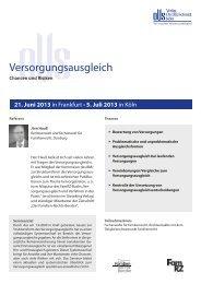 Versorgungsausgleich - Verlag Dr. Otto Schmidt