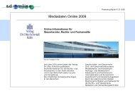 Mediadaten Online 2009 - Verlag Dr. Otto Schmidt