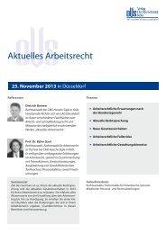 Infos zu dieser Veranstaltung - Verlag Dr. Otto Schmidt