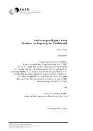 Verfassungsmäßigkeit eines Gesetzes zur Regelung der Tarifeinheit