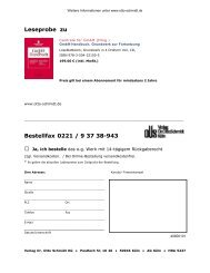 Leseprobe zu Bestellfax 0221 / 9 37 38-943 - Verlag Dr. Otto Schmidt