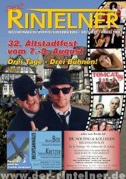 32. Altstadtfest vom 7.-9. August - Der Rintelner