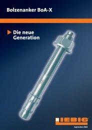 Bolzenanker BoAX - Berliner Schrauben GmbH & Co KG