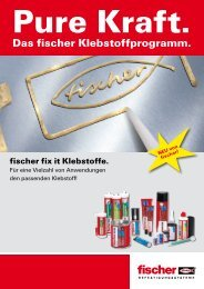 Das fischer Klebstoffprogramm. - OTTO ROTH GmbH & Co KG