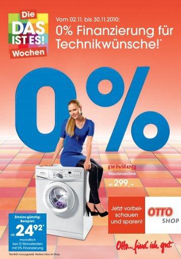 0% Finanzierung für Technikwünsche!* - Otto