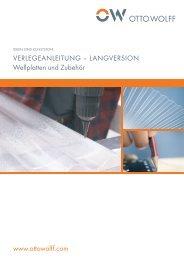 Verlegeanleitung Wellplatten und Zubehör (PDF, 0.91 MB) - Otto Wolff