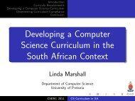 Presentation Linda Marshall