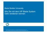 Warum es sich lohnt, HP Blade Server zu - CST Gmbh