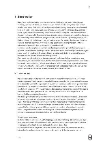 4 Zoet water - Open Universiteit Nederland