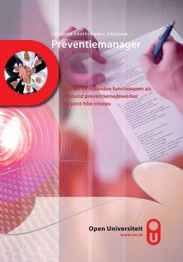 Preventiemanager - Open Universiteit Nederland