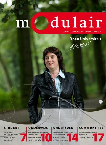 Modulair 1 (jaargang 27, 9 september 2011) - Open Universiteit ...