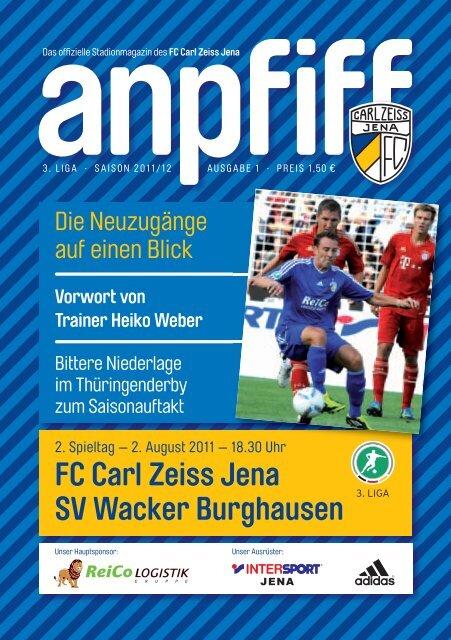 FC Carl Zeiss Jena SV Wacker Burghausen