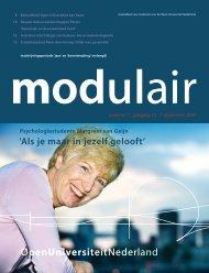 Modulair 1 (jaargang 21, 7 september 2005) - Open Universiteit ...