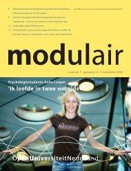 Modulair 1 (jaargang 22, 6 september 2006) - Open Universiteit ...