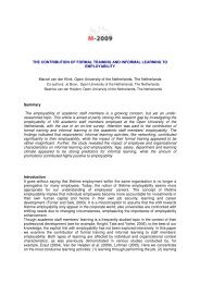 the contribution of formal training and informal learning - Open ...