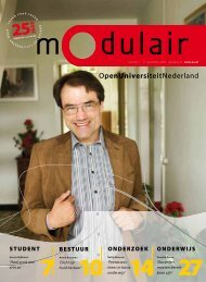 Modulair 1 (jaargang 25, 11 september 2009) - Open Universiteit ...