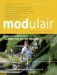 Modulair 1 (jaargang 23, 14 september 2007) - Open Universiteit ...