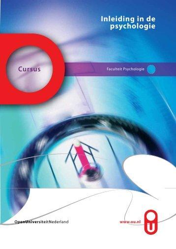 Inleiding in de psychologie - Open Universiteit Nederland