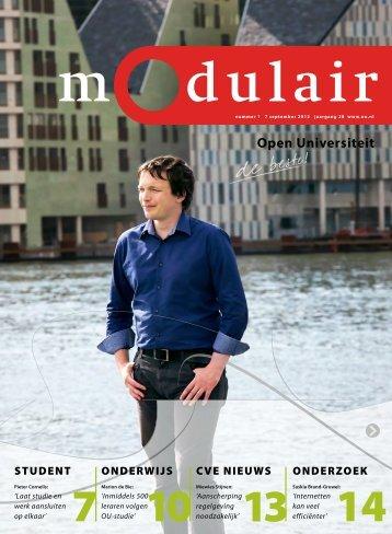 Modulair 1 (jaargang 28, 7 september 2012) - Open Universiteit ...