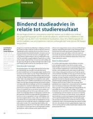 Bindend studieadvies in relatie tot studieresultaat