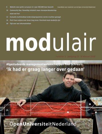 Modulair 5 (jaargang 23, 8 februari 2008) - Open Universiteit ...