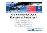 Are We Ready For Open Educational Resources?