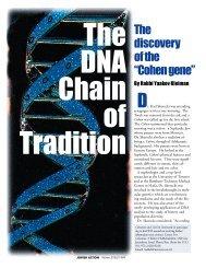 "The d i s c o v e ry of the ""Cohen gene"""