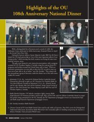 Highlights of the OU 108th Anniversary National ... - Orthodox Union