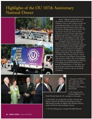 Highlights of the OU 107th Anniversary National ... - Orthodox Union