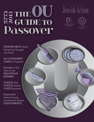 The OU's Passover 2013 Guide