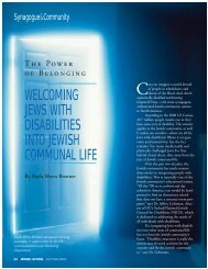 welcoming jews with disabilities into jewish ... - Orthodox Union