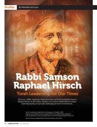 Rabbi Samson Raphael Hirsch - Orthodox Union