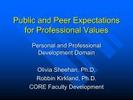 Public and Peer Expectations for Professional Values
