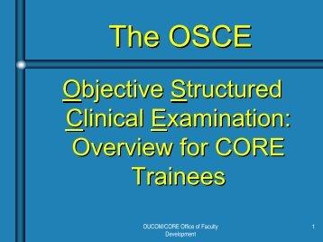 The OSCE