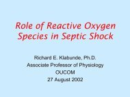The roll of reactive oxygen species in septic shock.