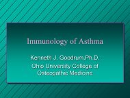 Immunology of Asthma - Ohio University College of Osteopathic ...