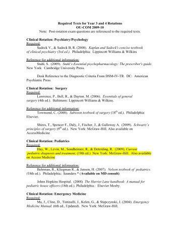 A description of the ohio university college of medicine