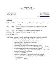 Curriculum Vitae - Ohio University College of Osteopathic Medicine