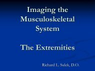 Imaging the musculoskeletal system