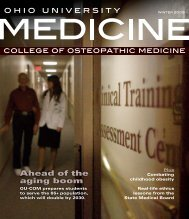 download magazine pdf - Ohio University College of Osteopathic ...