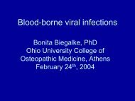 Blood-borne viral infections - Ohio University College of Osteopathic ...