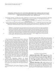 Journal of Vertebrate Paleontology 31(3) - Ohio University College ...