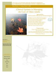Clinical Updates in Managing the Care of Older Adults