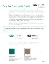 Graphic Standards Guide - Ohio University College of Osteopathic ...