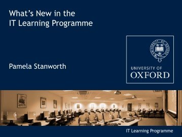 IT Learning Programme (pdf) - Computing Services