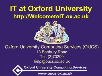 University Card - Computing Services