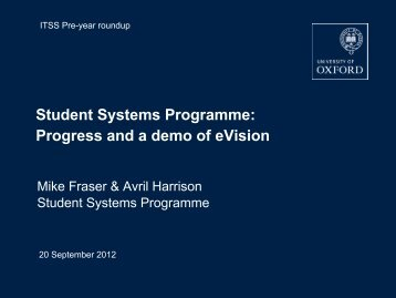 Developing our Student Systems (pdf)