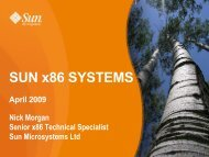 SUN x86 SYSTEMS - IT Services