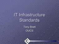 IT Infrastructure Standards