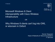 A warning about WiFi and Windows 8 (pdf) - IT Services